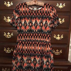 Lularaoe Amelia Aztec Tribal Print Dress Size XL